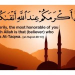 Taqwa - Fearing Allah and to avoid sinning